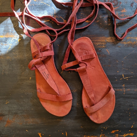 Free People Shoes - Free People lace up/gladiator sandals